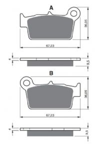 Brake Pad  187 Gas Gas EC rear